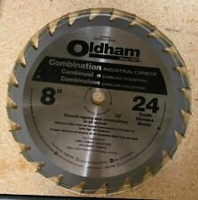 """New Oldham B8004524 8"""" 24Tooth Combination Industrial Carbide Saw Blade"""