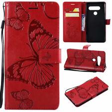 For LG V40 V30 Plus K51S K22 K42 Pattern Magnetic Leather Wallet Flip Case Cover
