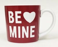 BE MINE Red White Heart Valentines Day Coffee Mug Cup By TAG