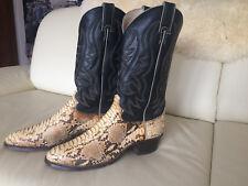 """EXCLUSIVE Herrenstiefel """"JUSTIN"""" aus echtem Python Leder, Western Cowboy Stiefel"""