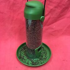 "Plastic Wild Garden Bird Niger Seed Feeder with Tray 9"" No Mess Feeder FREE SEED"