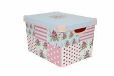 Curver Stockholm Large Floral Patchwork Storage Box With Lid 22L