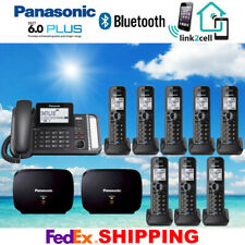 PANASONIC KX-TG9582B 2-LINE 1 CORDED - 8 CORDLESS PHONES - 2 REPEATERS - NEW