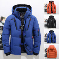 Winter Men's Warm Duck Down Jacket Snow Hooded Coat Climbing Ski Outwear Parka