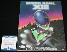 Terry Bradshaw signed Super Bowl XIII Program, Steelers, Beckett BAS WB03101
