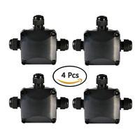 ATPWONZ Junction Box IP68 Waterproof 3 Way Cable Connectors Outdoor / External E