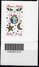 2009 Italia Repubblica 1274 Codici a Barre Natale Adesivo © nuovo MNH**