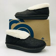 CLOUDSTEPPERS by Clarks Faux Fur & Felt Slippers- Step Size 10M Black