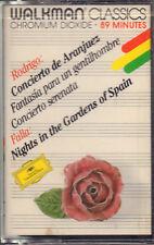 """RODRIGO-FALLA """"CONCIERTO DE ARANJUEZ """"MUSICASSETTA SIGILLATA DEUTSCHE GRAMMOPHON"""