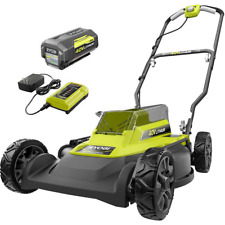 Ryobi Push Mower Mulching & side discharge capable Lithium Ion Battery & Charger