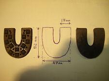 2 talons wood milne n°2 à clouer sabot de bois 47 par 52 mm