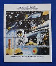 Palau (#218) 1988 First Moon Landing 20th Anniversary MNH sheet