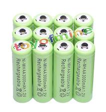 12x AA NiMH 3000mAH pile 2A Batterie rechargeable Lumière solaire
