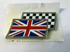 MG CHEQUERED AND UNION JACK FLAG BADGE, GENUINE,  BRAND NEW (DAG000070MM)