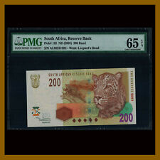 South Africa 200 Rand, 2005 P-132 Leopard PMG 65 EPQ
