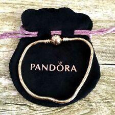 New Pandora Rose Gold Snake Chain Charm Ball Bracelet Fashion Beads  Bracelets