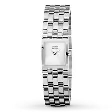 Women's Citizen Jolie Square Silver Dial Watch Eco-Drive EX1300-51A