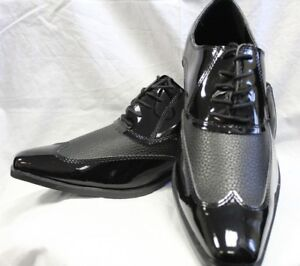 MEN'S POINTED PATENT  SHOES- WEDDINGS/FORMALWEAR/ASCOT/MASONS