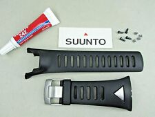 Genuine Suunto Ambit Ambit3 Silver rubber watch band black color Ss018626000