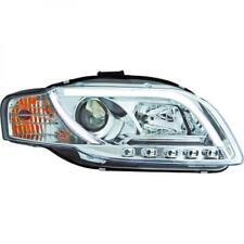 LHD Projector Headlights Pair LED DRL Clear Chrome For Audi A4 Avant 8E 04-07