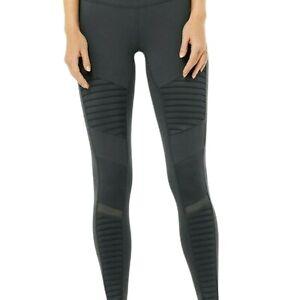 ALO Yoga Moto Leggings Size M Gray Compression Full Length Stretch
