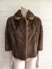 Amazing Tan MINK FUR COAT SHORT JACKET $5,000 Size XS S UK 6 - 8 US 2 - 4 Small