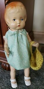 """ADORABLE 14"""" UNMARKED VINTAGE PATSY TYPE DOLL"""