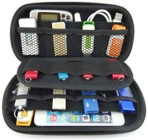 USB Flash Hard Drives Carry Case Bag SD Memory Card Waterproof Organizer Padded