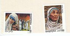 ALBANIA - Bustina 2 francobolli serie MADRE TERESA DI CALCUTTA