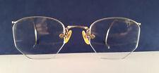 1 x Pair Vintage SHURON Semi-Rimless Wire Frame Eyeglasses