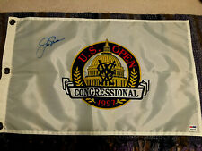 New listing Jack Nicklaus Signed 1997 Us Open Congressional Golf Flag Masters Coa Psa Tiger