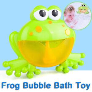 Frog Bubble Maker Automated Spout Bubble Machine Bath Shower Kids Fun Toy