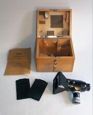 Vintage Zeiss Microscope 6x9cm Camera, Reflex Finder, 2 film holders, book, box