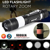 New G700 X800 XML T6 LED 6000LM Military Tactical Zoomable Flashlight Torch Lamp