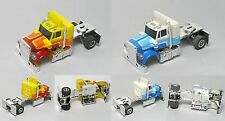 2pc 1979-82 Aurora AFX HO Peterbilt Tractor Slot Car BODIES Body w/RearWheelSet!