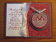 Christmas Card Kit: Nativity Ornament Jesus Mary Stampin Up Handmade cards set 4