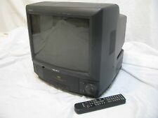 "Sony Trinitron 13"" TV VCR Combo Unit KV-13VM20 CRT With Remote WORKS GREAT!"