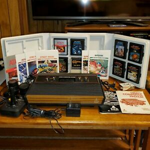 Atari 2600 (CX-2600 A) Console Wood Grain 4 Switch & GAMES TESTED & WORKING
