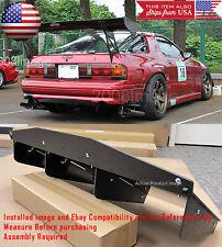"30"" x 12.5"" ABS Textured Rear Bumper Center Diffuser Fin Black For Toyota Lexus"