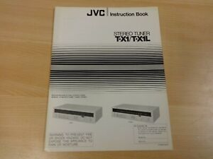 JVC INSTRUCTION BOOK STEREO TUNER T-X1 / T-X1L