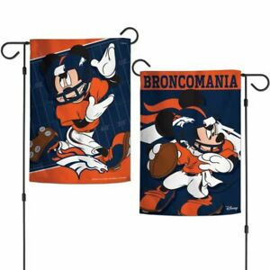DENVER BRONCOS/MICKEY MOUSE 2/SIDED GARDEN FLAG FROM WINCRAFT