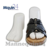 FEMALE FEET -PAIR of RIGHT AND LEFT FOOT -WHITE FOOT MANNEQUIN FORM SHOE DISPLAY