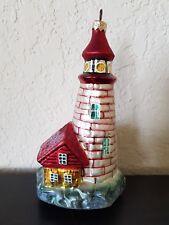 Christopher Radko Christmas Glass Ornament 1997 Shore Light Lighthouse Great!