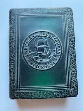 VINTAGE COIN ADVERTIZING BOOK BANK AMERICAN TRUST CO. SINCE 1854   CALIF. BANK