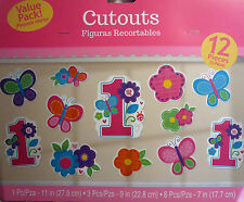 Amscan 190281 Sweet Girl 1st Birthday Cutouts Pack of 144