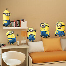 New Removable Cartoon Wall Stickers for Kids Rooms 3D House Decoration