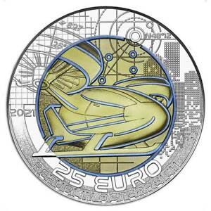 SMART MOBILITY – 2021 €25 Austria 16.5g Silver Niobium Coin
