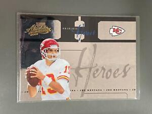 Joe Montana 2005 Absolute Heroes Kansas City Chiefs 49ers 44/150 N25