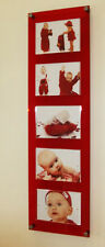 "Multi picture photo frame Magnetic 5 x 7""/ 7x5 "" Cheshire Acrylic wedding /baby"