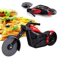 Stainless Steel Motorcycle Pizza Cutter Pizza Cake Roller Slicer Kitchen NW K0M2